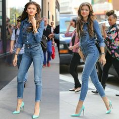 "2,346 Likes, 13 Comments - About Fashion Inspiration (@aboutfashionlife) on Instagram: ""Denim Style  @zendaya"""
