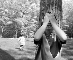 "Mattie likes to take care of people, especially immigrants. This picture shows children playing hide and seek. In a way, she helps the immigrants ""hide"" from the law or the police. Those Were The Days, The Good Old Days, My Childhood Memories, Great Memories, Summer Memories, 90s Childhood, Ideas Conmemorativas, Nostalgia, Peek A Boo"
