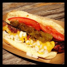 Chicago Style Hot Dog. Instagram photo by @snaptruck