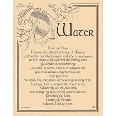 Water Invocation poster.. Water is my favorite element :)
