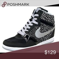 Nike WOMEN FORCE SKY HIGH Black Wolf 8.5 SNEAKERS