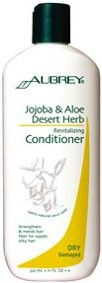 Aubrey Organics Jojoba and Aloe Desert Herb Revitalising Conditioner for Dry, Processed & Damaged Hair. Bring damaged, desert-dry hair back to life. Moisture-rich botanicals nourish, rebalance and rehydrate parched, overprocessed hair on contact. Milk protein strengthens and mends damaged areas and promotes elasticity to prevent breakage and leave hair touchably soft & shiny. http://www.theremustbeabetterway.co.uk/aubrey-organics-jojoba-and-aloe-desert-herb-revitalising-conditioner.html