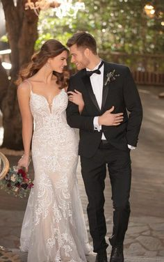 Beaded fit and flare wedding dress with glitter tulle. Essense of Australia Sexy, low back wedding dress. How To Dress For A Wedding, Lace Wedding Dress, Fit And Flare Wedding Dress, Wedding Dress Trends, Wedding Dress Styles, Bridal Dresses, Wedding Gowns, Tulle Wedding, Boho Wedding