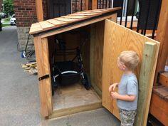 stroller storage shed