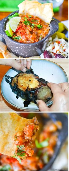 Roasted Eggplant and Tomato Dip! A perfect party entertaining dip with ...