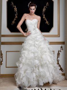 Strapless Ruffled Jovani Dress, Style 14645