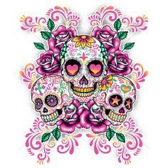 Tattoo sugar skulls, candy skulls, skeletons, pink skull wallpaper, skull p Mexican Skulls, Mexican Art, Caveira Mexicana Tattoo, Los Muertos Tattoo, Sugar Skull Artwork, Sugar Skull Wallpaper, Catrina Tattoo, Candy Skulls, Sugar Skulls