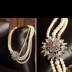 I love mixing sparkles & pearls