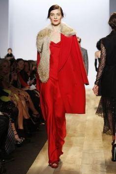 Power red at Michael Kors Fall 2012.