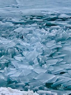 """""""Blue Ice on Lake Michigan"""" Lake Michigan from Grand Haven North Pier. This is a first for me, it was AMAZING! Feel free to Share. Copyright Michael Breen Photography - All Rights Reserved Grand Haven, Lake Michigan, Ice, Amazing, Photography, Outdoor, Outdoors, Photograph, Fotografie"""