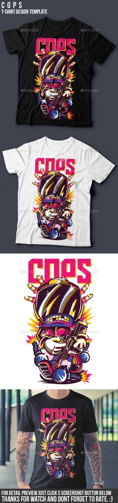 C O P S T-Shirt Design Template Vector EPS, Transparent PNG, AI Illustrator. Download here: http://graphicriver.net/item/c-o-p-s-tshirt-design/15833723?ref=ksioks