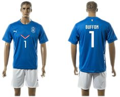 2015-2016 Italy team blue BUFFON #1 soccer jerseys home