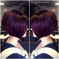 Plum Bobbed Hairstyle
