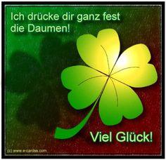 Dir ich die daumen drücke German phrase