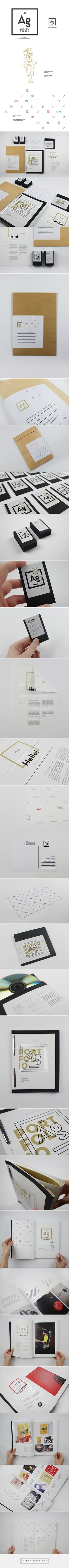 Brand &Id / Andrew Golden - Personal Branding / Portfolio, Stationery and Resume