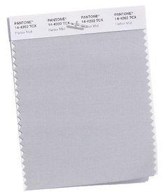 PANTONE Harbor Mist A mid-tone dove gray; Harbor Mist solidifies the spring 2018 palette. Color Trends 2018, 2018 Color, Fashion Colours, Colorful Fashion, Colour Palette 2018, Ny Fashion Week, Spring Trends, Pantone Color, Basic Colors
