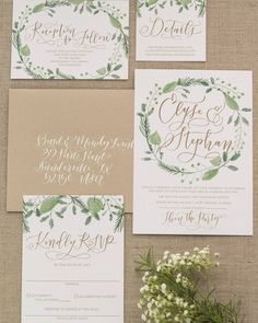 Elyse is one of our hand lettered suites with lots of gorgeous swashes and swirls she's romantic and beautiful! @amandaarneill hand letters your names with incredible attention to detail. Don't forget to add matching hand lettered envelopes to tie it all together!