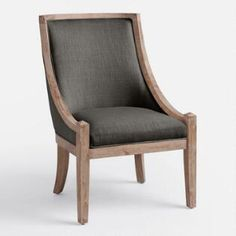 Charcoal Henry High Back Accent Chair