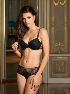d2117ede80 Caresse Fougère noir saphir : marque de lingerie fine, tous nos modèles Lise  Charmel