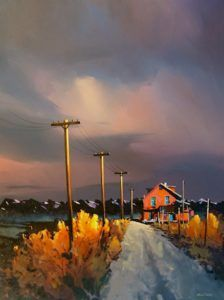 """""""Homestead of by Michael O'Toole 36 x 48 - acrylic Watercolor Landscape, Abstract Landscape, Landscape Paintings, Watercolour, Paintings I Love, Canadian Artists, All Art, Painting Inspiration, Art Photography"""