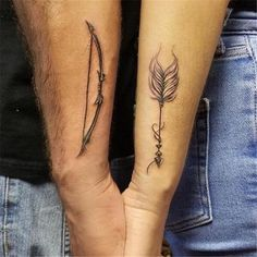 60 Unique And Coolest Couple Matching Tattoos For A Romantic Valentine& Day In 2020 - Page 60 of Partner Tattoos, Bff Tattoos, Friend Tattoos, Love Tattoos, Unique Tattoos, Body Art Tattoos, Hand Tattoos, Small Tattoos, Tattoos For Women