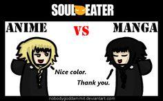 Soul Eater Anime vs. Manga : Medusa by nobodygoddammit on DeviantArt