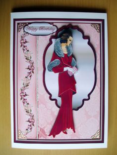 Handmade Birthday Card 3D Art Deco Lady | eBay