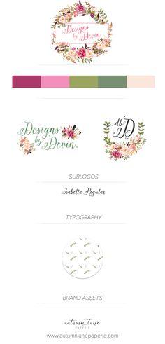 Autumn Lane Paperie - Business Branding - Brand Identity Idea - Brand Board - Brandboard - Graphic Design - Shabby Chic Rustic Design - Branding Package - Branding Ideas - Logo Ideas - Logo Design - Graphic Design - Creative Professional