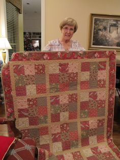 Mom with her quilt