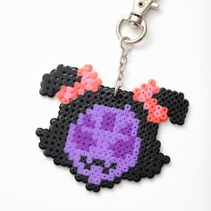 Undertale Muffet keychain  video game jewelry by FrozenCrafts