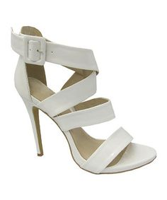 4ca3a2c84abd Another great find on  zulily! Yoki White Katrin Side Buckle Pump by Yoki