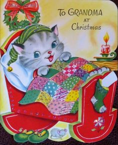 Vintage Christmas Images, Retro Christmas, Vintage Holiday, Christmas Cats, Christmas Pictures, Christmas Greetings, Christmas Time, Christmas Specials, Holiday Cards