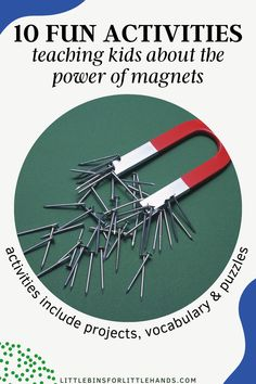 Make learning about science creative and fun with this Magnetism: All About Magnets Activity Pack for kids! This science pack for kids was especially designed for early elementary children by a certified STEM teacher. In this magnetism activity pack for kids you can expect to find 10 creative magnet projects, crossword puzzles, and so much more. These magnet activities for kids are perfect for children kindergarten through second grade! Great for home, distance, and classroom learning. Toddler Science Experiments, Preschool Science Activities, Steam Activities, Kindergarten Science, Science For Kids, Science Projects, Stem Learning, Early Learning, Stem Teacher