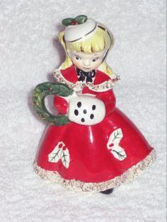 Vintage  Shopper Christmas figurine