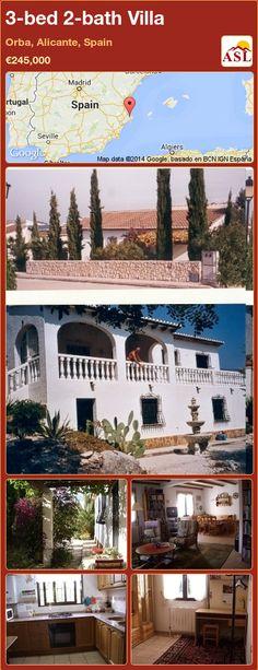 3-bed 2-bath Villa in Orba, Alicante, Spain ►€245,000 #PropertyForSaleInSpain