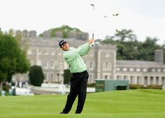 Fab pic of Padraig Harrington with the house in the background