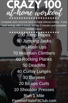 Crazy 100 At-Home Workout Crazy 100 At-Home Workout For Women Related Post Resistance Band Blast 56 Trendy Fitness Motivacin Pictures Glutes Websit. Magnesium Supplements: Should You Take Them After Reading These Fitness Quotes, You'll L. At Home Workouts For Women, Gym Workouts Women, Fun Workouts, Circuit Workouts, Workout Women, Exercise Routines, Workout Exercises, Hiit, Cardio
