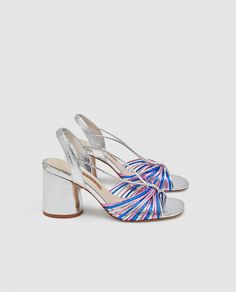 ZARA - WOMAN - SILVER STRAPPY HIGH-HEEL SANDALS