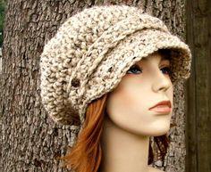 Crochet chapeau Hat Womens gruau Newsboy Hat Traînassent le chapeau - casquette de Gavroche Crochet en chapeau au Crochet de flocons d'avoine - flocons d'avoine Hat Womens Accessories par pixiebell sur Etsy https://www.etsy.com/fr/listing/102535221/crochet-chapeau-hat-womens-gruau-newsboy