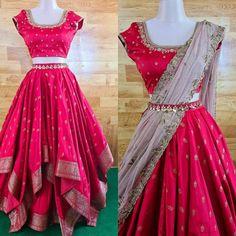 Party Wear Indian Dresses, Designer Party Wear Dresses, Dress Indian Style, Indian Fashion Dresses, Lehenga Saree Design, Lehenga Designs, Saree Blouse Designs, Work Dresses For Women, Trendy Dresses