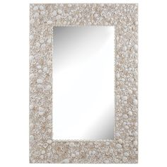Dimond Home Shell Wall Mirror, NaturalA rectangular frame of natural shells surrounds this mirror bringing gentle natural tones to the item and allowing a subtle hint of the outdoors indoors. Coastal Mirrors, Wall Mirrors Entryway, White Wall Mirrors, Silver Wall Mirror, Rustic Wall Mirrors, Living Room Mirrors, Round Wall Mirror, Mirror Art, Shell Mirrors