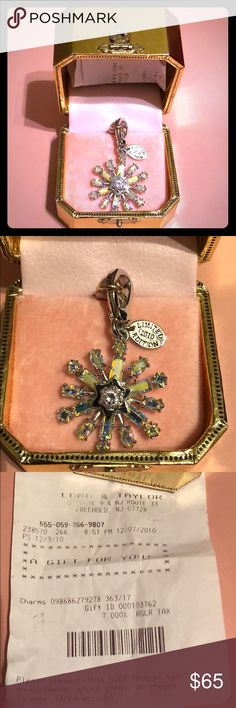BNIB Juicy Couture Limited Edition Snowflake Charm New, never used. Got as a Christmas 🎄 gift 🎁 back in 2010. Beautiful snowflake ❄️ charm however it just wasn't my style. Bought from Lord & Taylor (see gift receipt). Juicy Couture Accessories Key & Card Holders