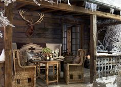 "Ralph Lauren Home Archives, ""Alpine Lodge"" Dining Room, 2012; ""Inspired by the international glamour of a beautifully appointed ski chalet."""