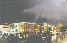 Iowa City, Iowa tornado in downtown area, August 12, 2006  I lived 5 blocks away from this and only 2 blocks away from its closest touch.