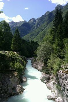 While I was at work today, my friend went whitewater rafting here in Slovenia. Le sigh . . .