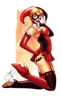 Harley Quin - line art: Jen Broomall, color: Eddy Swan