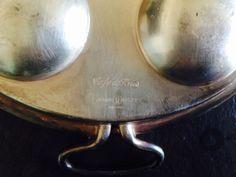 Arthur Krupp piatto escargot 6  argento originale caffè de Paris 1940/1950
