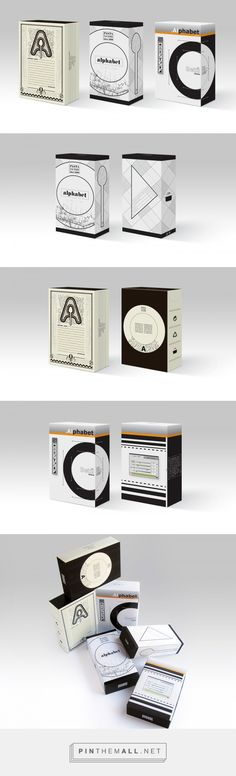 Alphabet pasta package 3x on Behance by Virag Veszteg