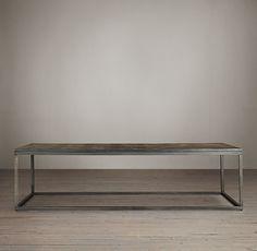 Metal Parquet Coffee Table 55 L X 35 W X 18 H 68