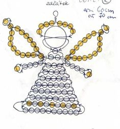 Beadery Holiday Ornament Kit Littlest Angels 5669 Beaded Christmas Ornaments, Angel Ornaments, Christmas Jewelry, Christmas Angels, Christmas Diy, Pony Bead Patterns, Beaded Jewelry Patterns, Beading Patterns, Angel Crafts